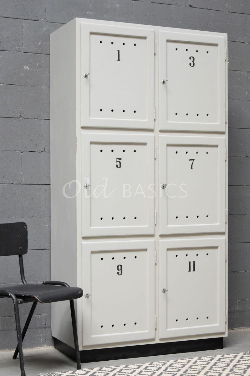 Lockerkast Numero, 2 deuren, RAL7044, grijs, materiaal hout