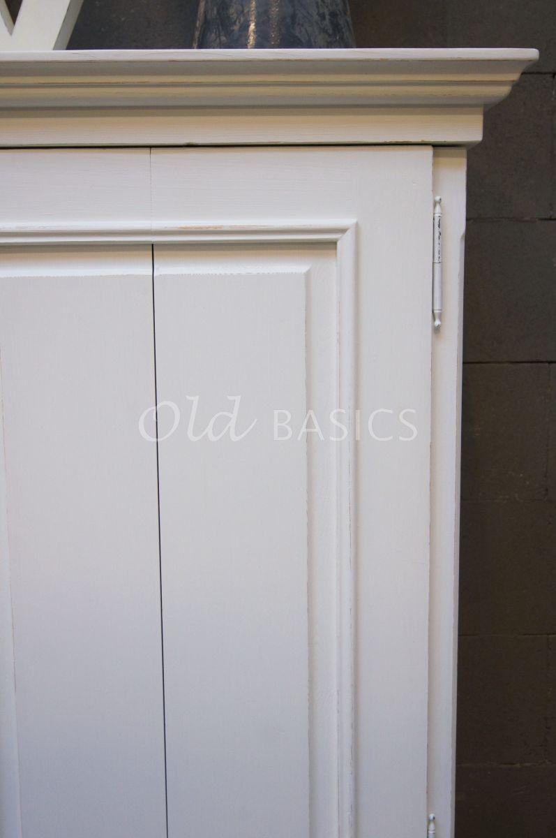 Detail van TVkast Elegance, RAL2, wit, materiaal hout