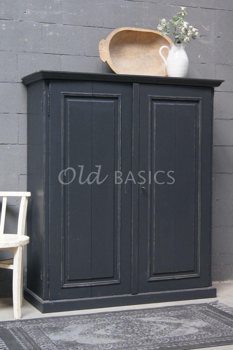 TVkast Gracieux, RAL2, grijs, zwart, materiaal hout