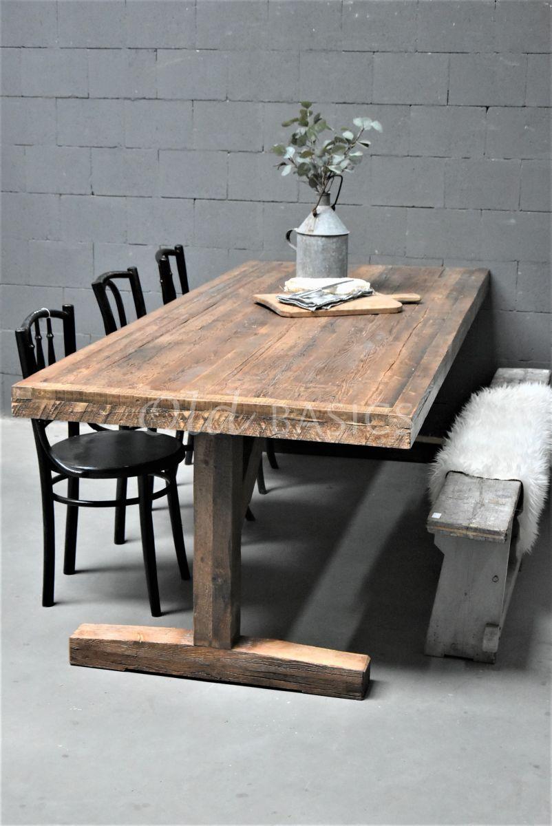 Detail van Eettafel Talence, naturel, materiaal hout