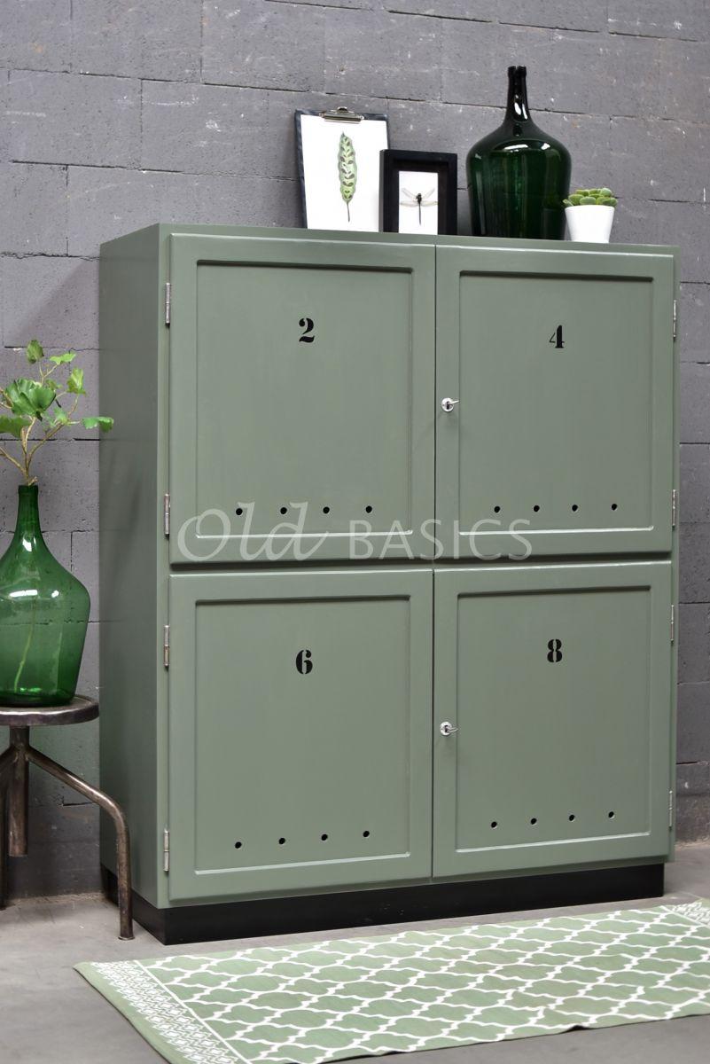 TVkast Numero, RAL2, groen, grijs, materiaal hout