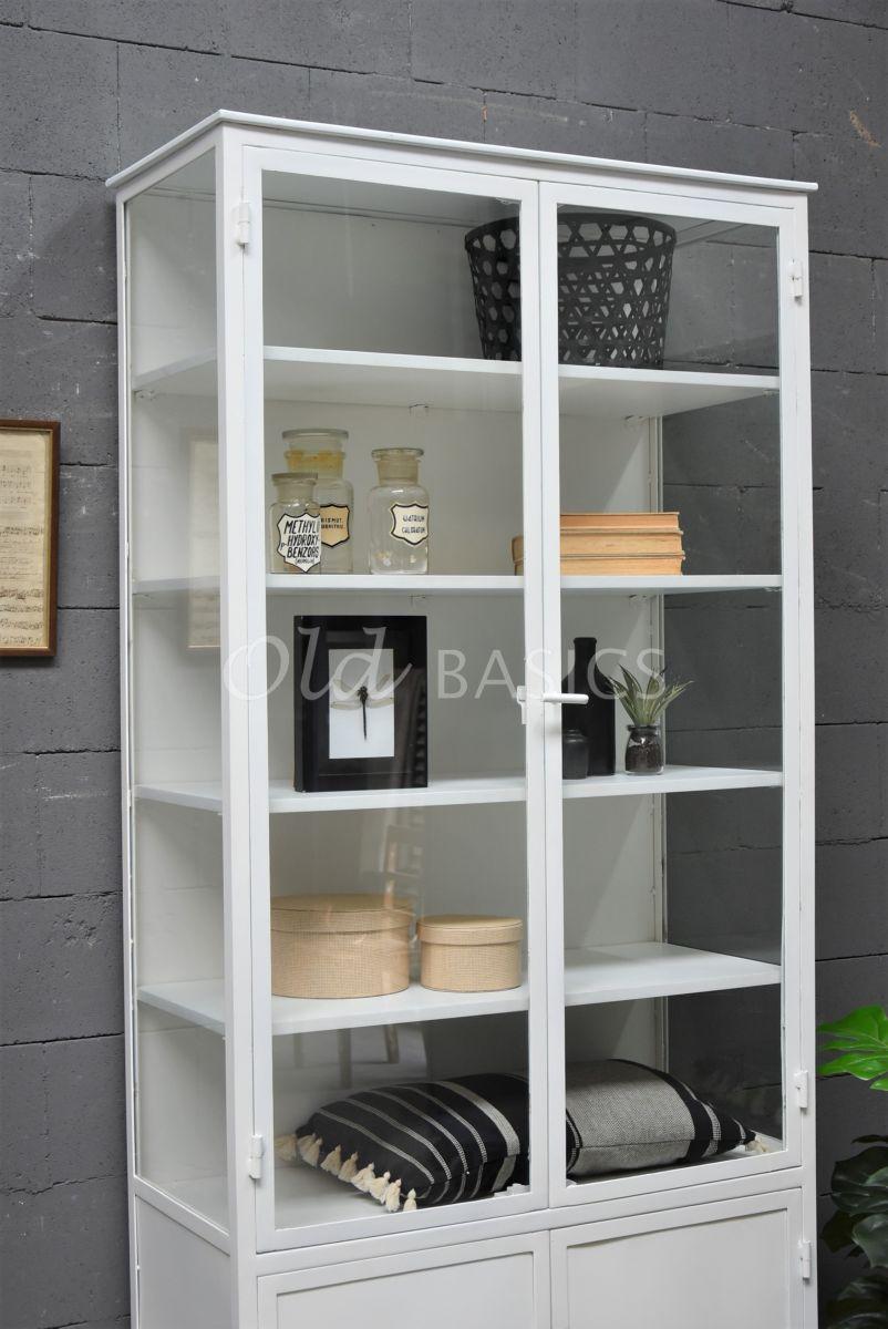 Detail van Apothekerskast Ivar Blanc Grand, wit, materiaal staal