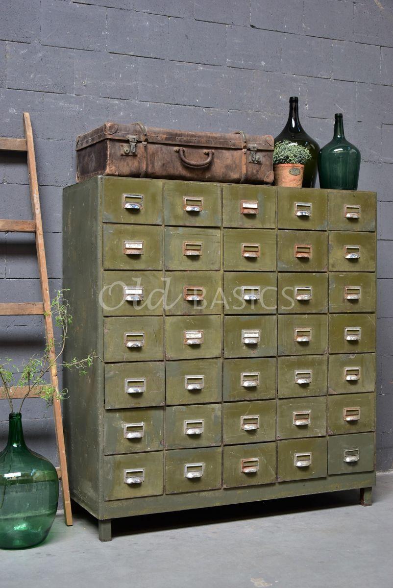 Industriële kast, groen, materiaal staal