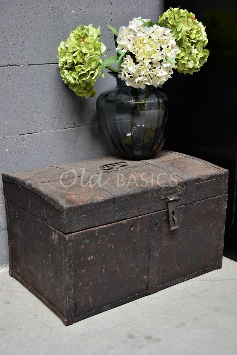 Kist, zwart, materiaal hout