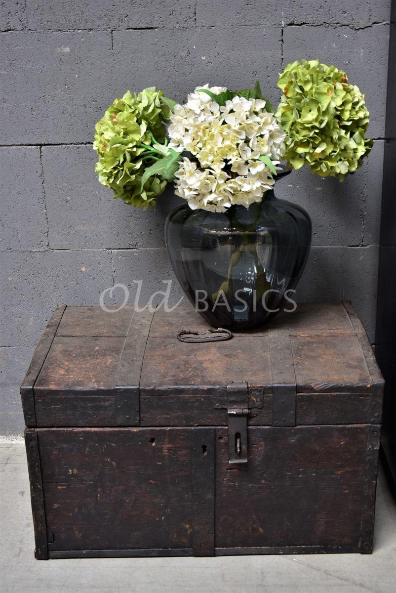 Detail van Kist, zwart, materiaal hout
