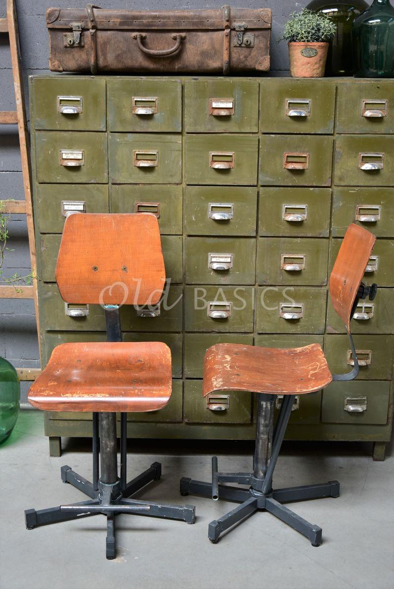 Bureaustoel, zwart, bruin, materiaal staal