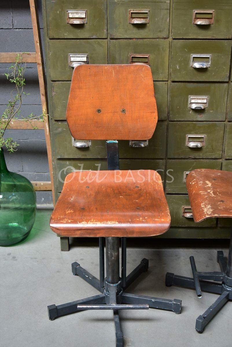 Detail van Bureaustoel, zwart, bruin, materiaal staal