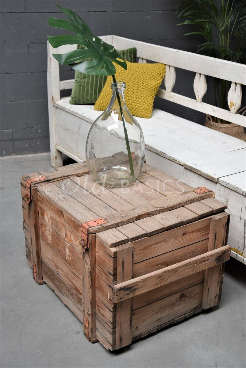 Houten kist, naturel, materiaal hout