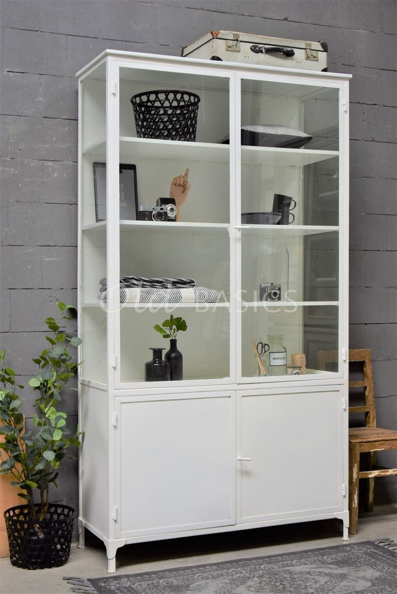 Apothekerskast Ilya Blanc Grand, wit, materiaal staal