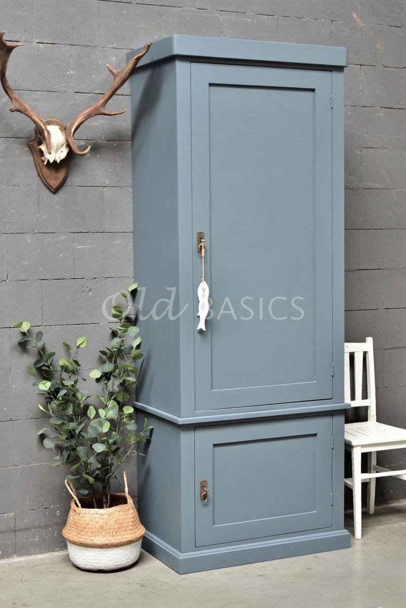 Kast Muret, 1 deuren, RAL7031, blauw, grijs, materiaal hout