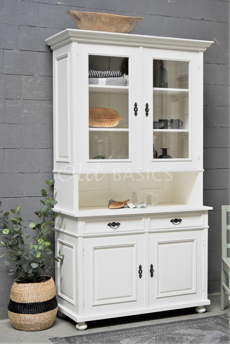 Buffetkast Eveline, 2 deuren, RAL9010, wit, materiaal hout