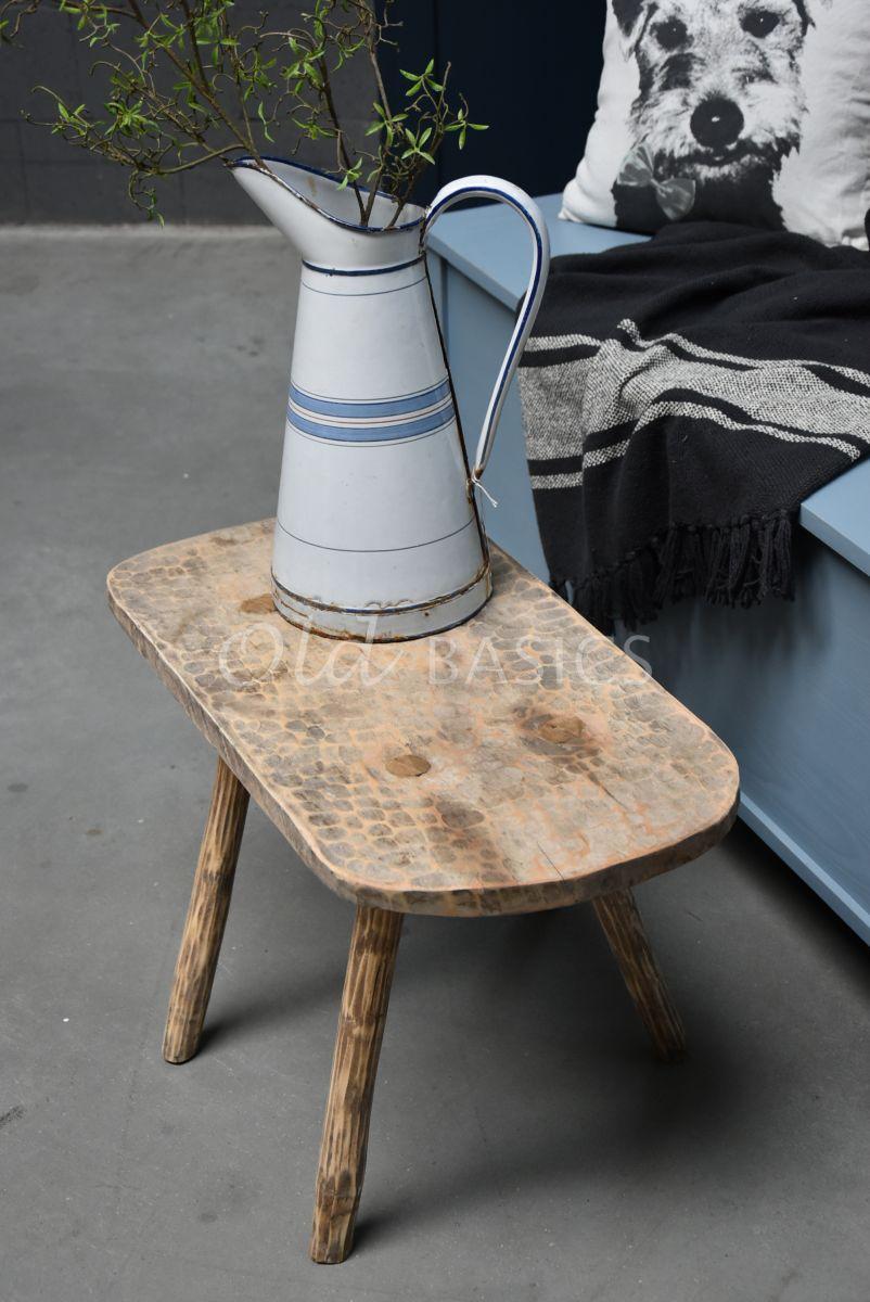 Detail van Stokpoot kruk, naturel, materiaal hout