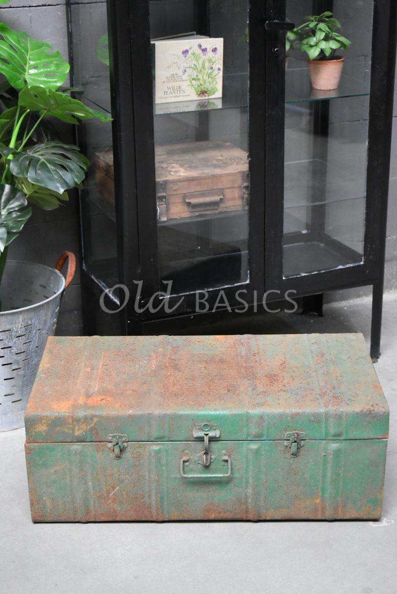 Kist, groen, materiaal staal