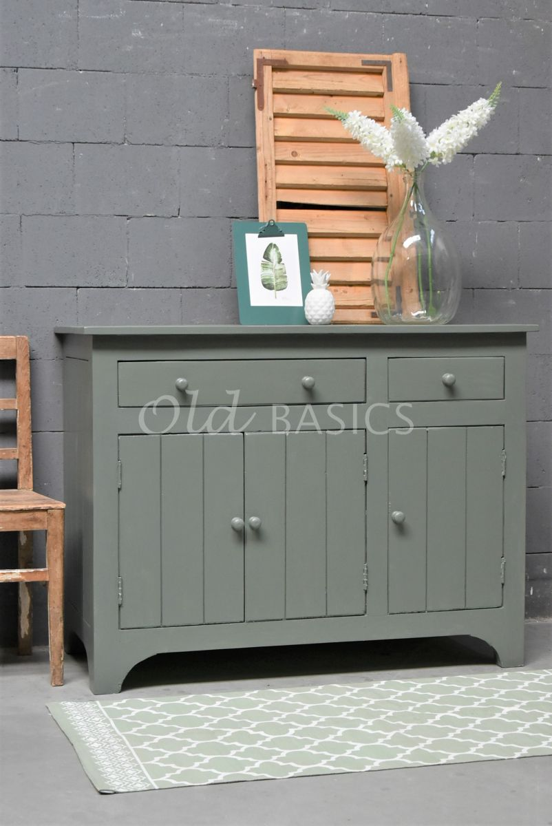Commode, groen, materiaal hout