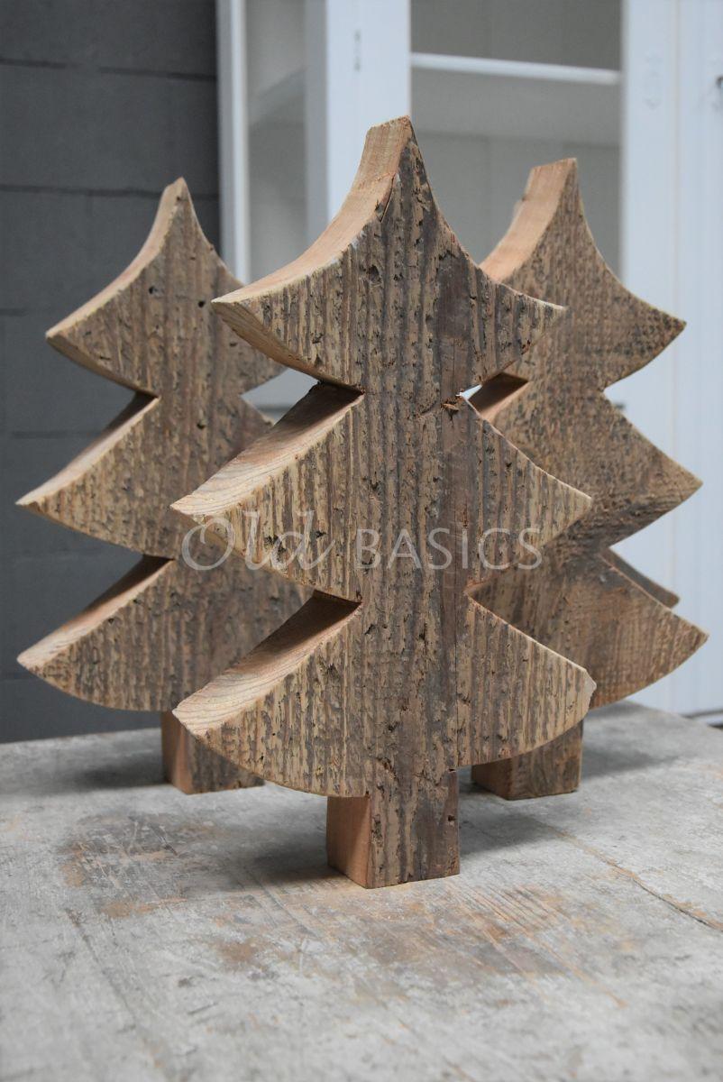 Houten kerstboom, naturel, materiaal hout
