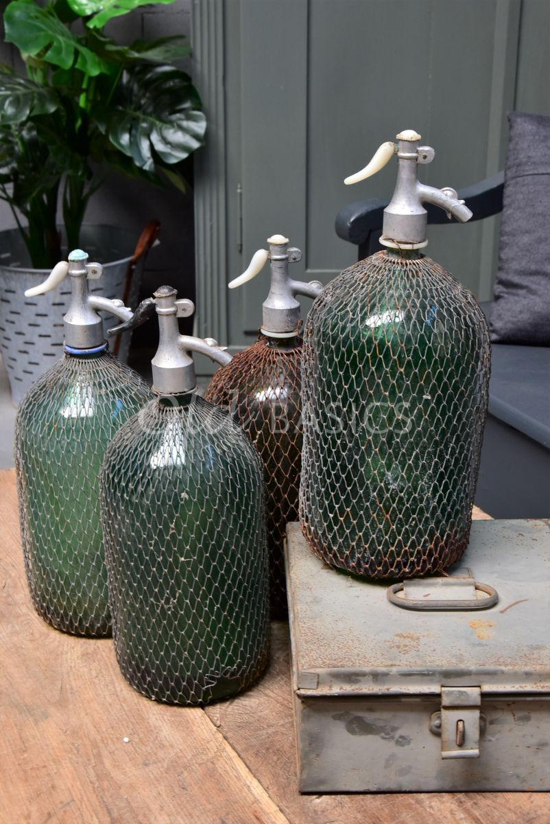 Spuitfles (L), groen, materiaal glas