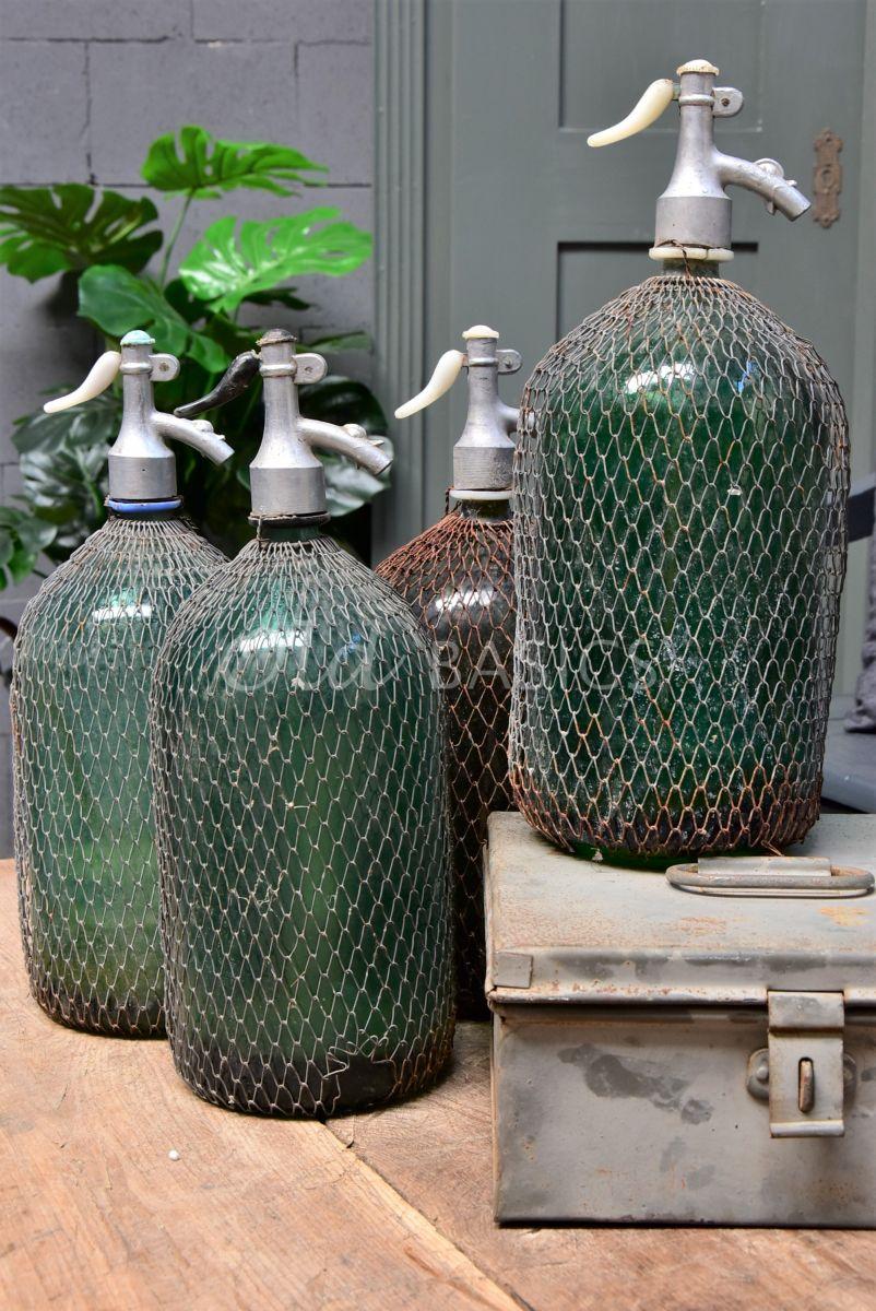 Detail van Spuitfles (L), groen, materiaal glas