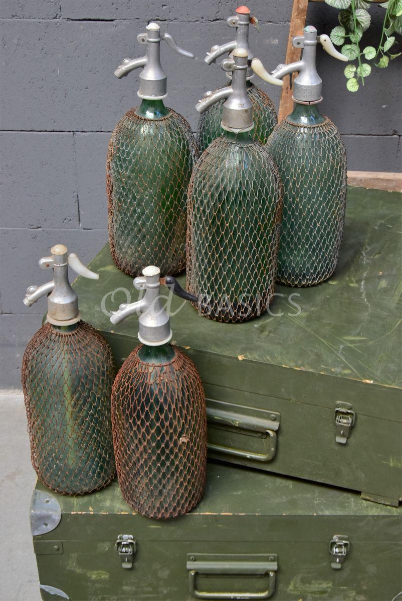 Spuitfles (M), groen, blauw, materiaal glas