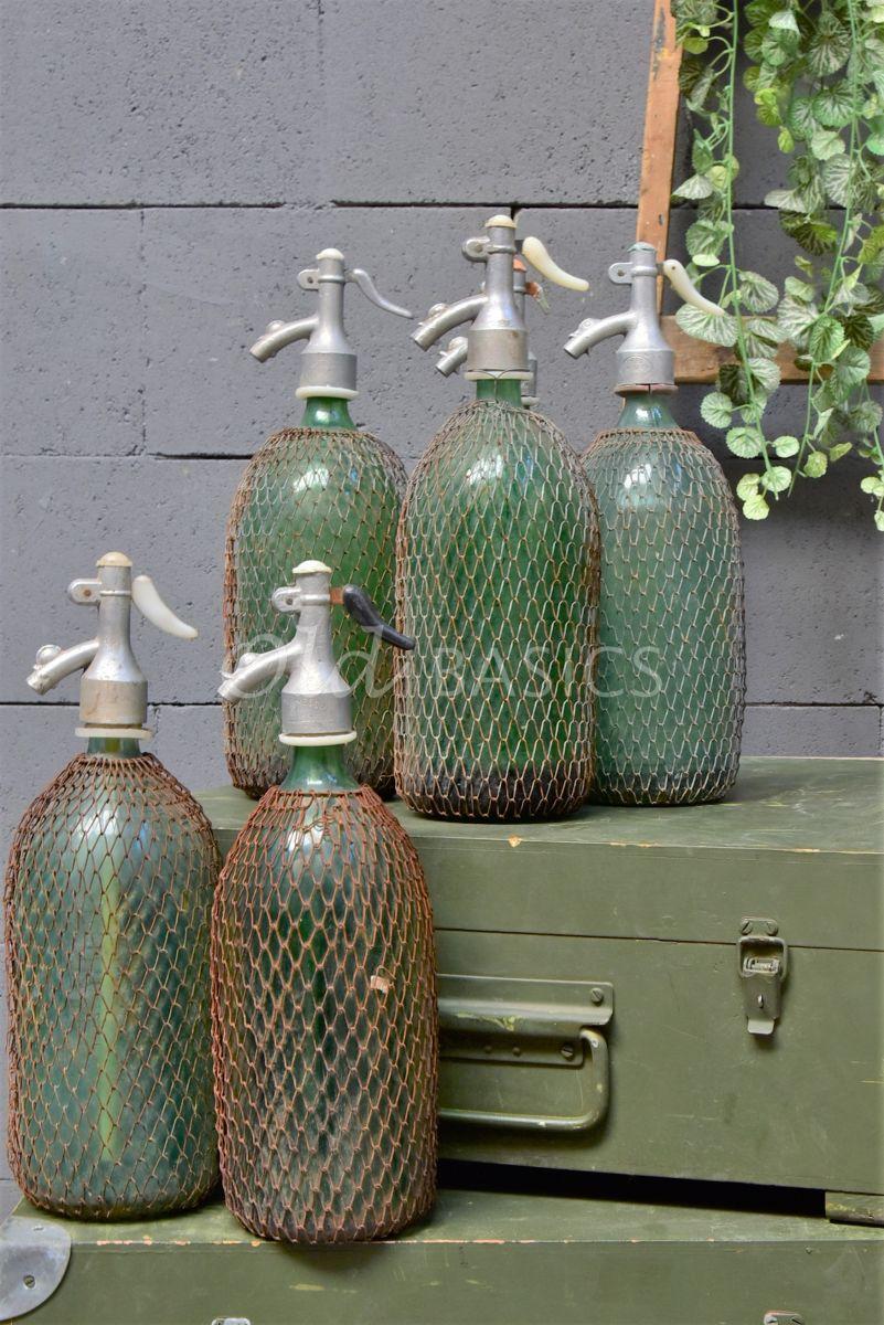 Detail van Spuitfles (M), groen, blauw, materiaal glas