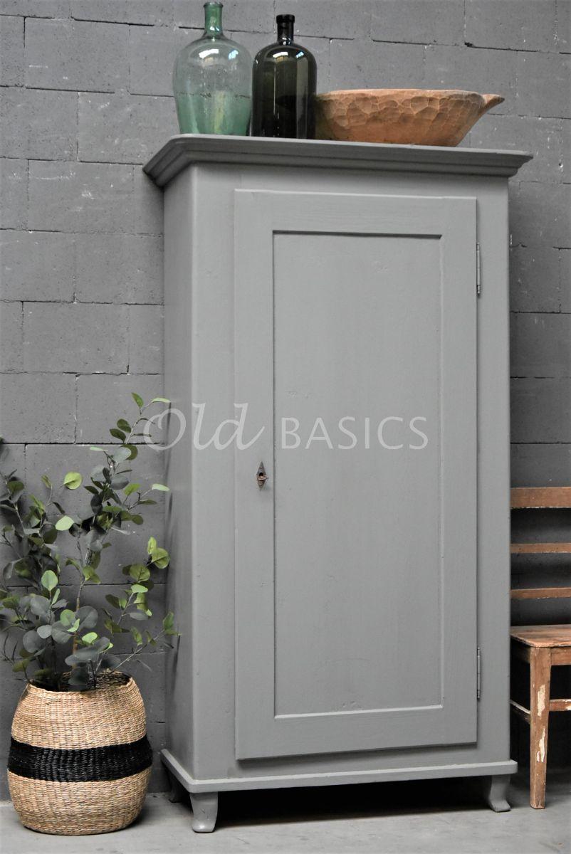 Brocante kast, grijs, materiaal hout