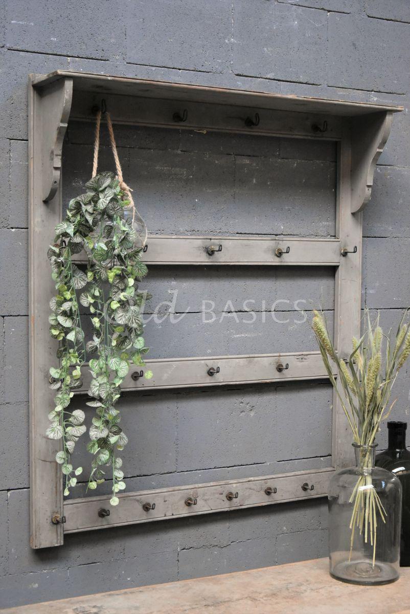 Wandrek, grijs, materiaal hout