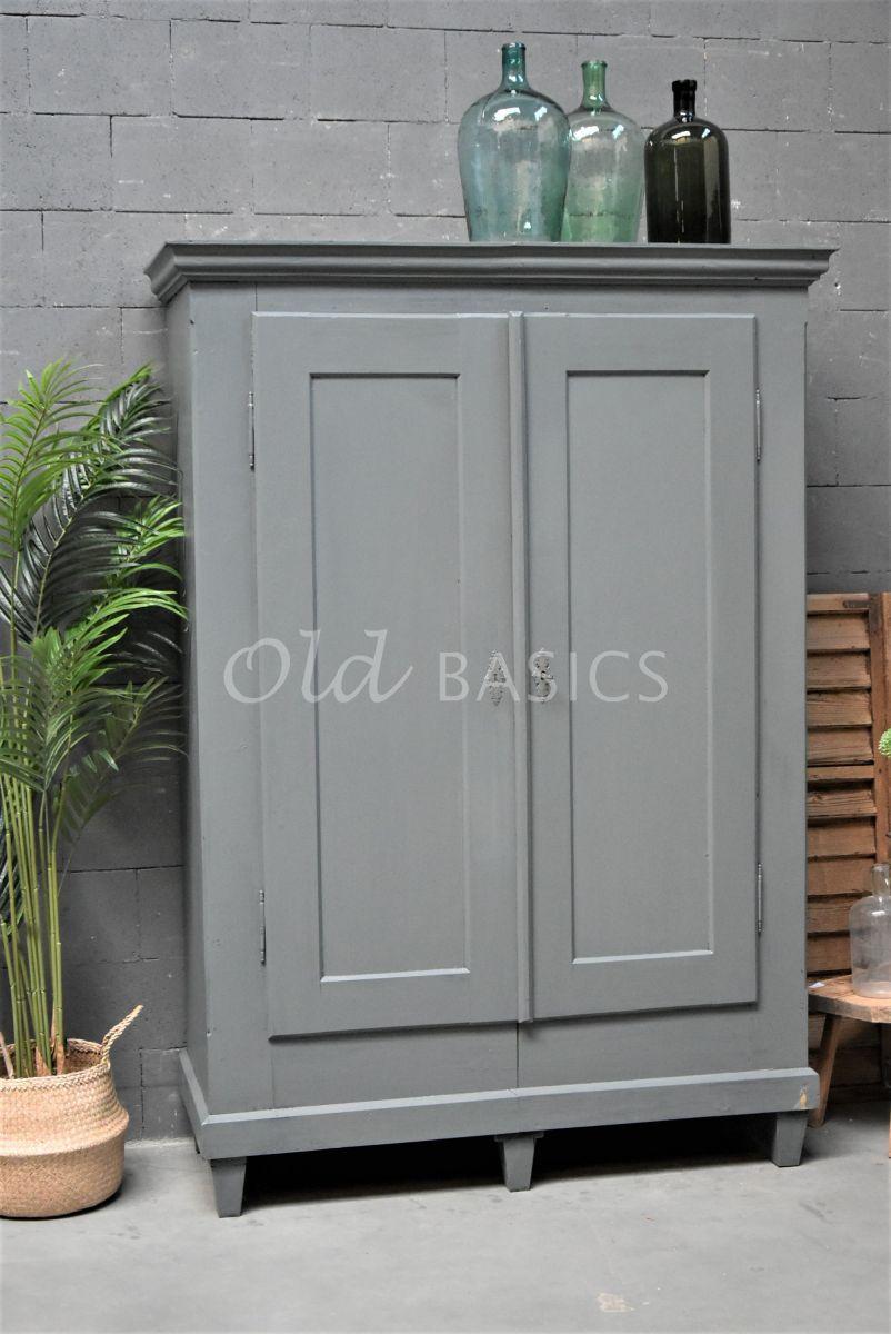 Kledingkast, grijs, materiaal hout