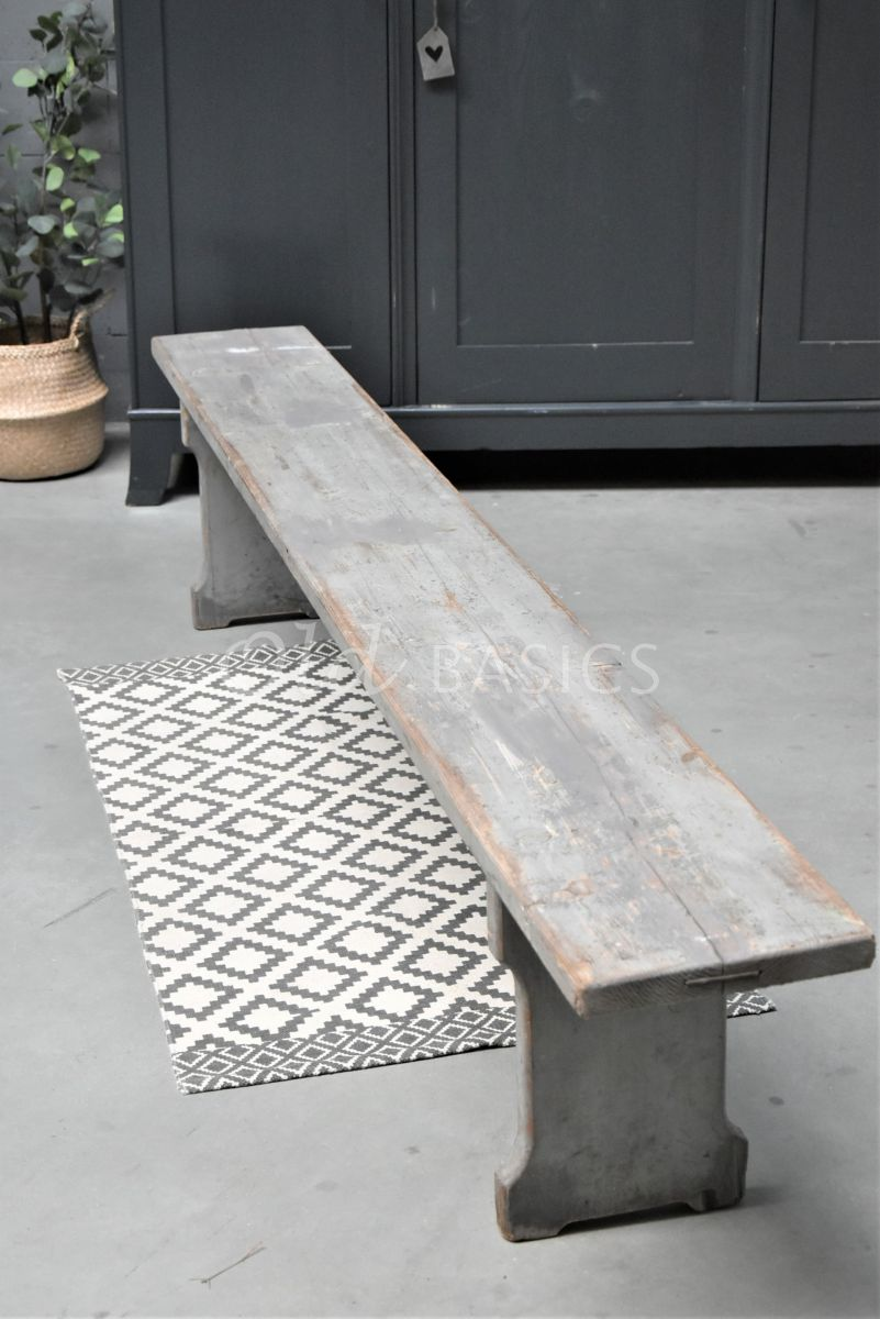 Houten bank, grijs, materiaal hout