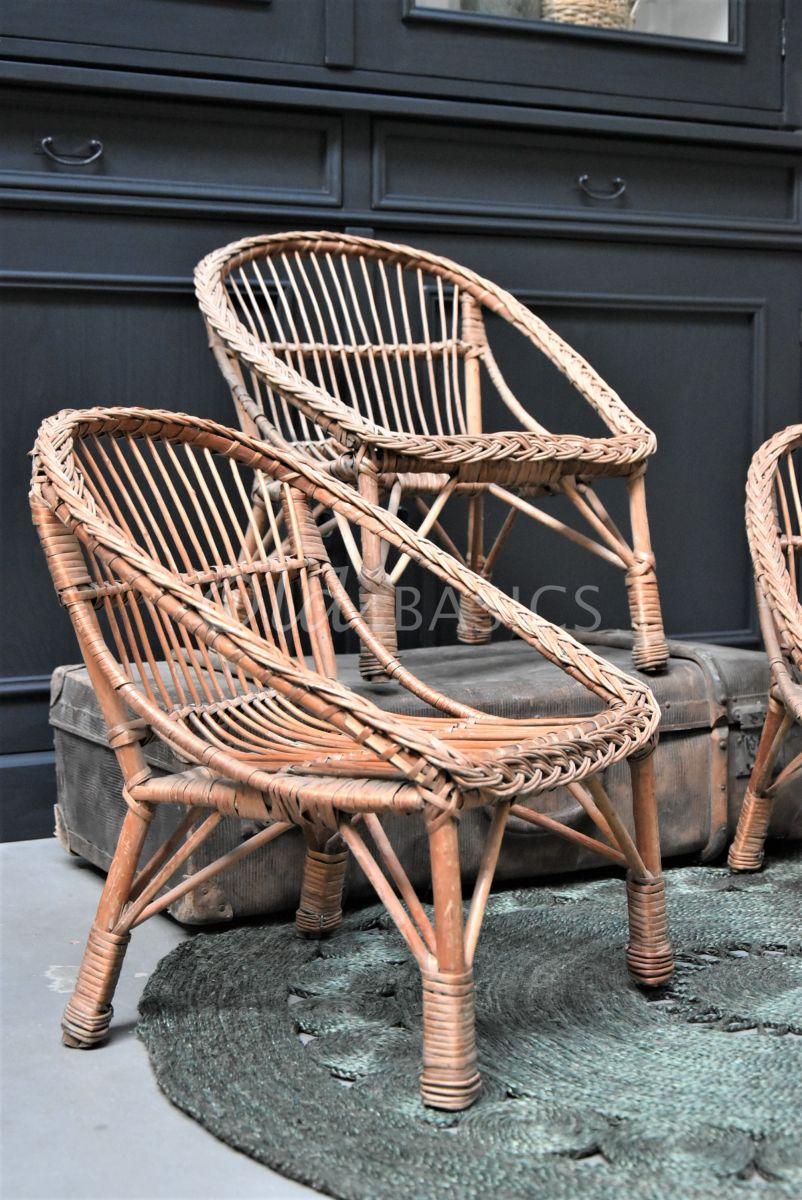 Detail van Stoeltje, naturel, materiaal hout