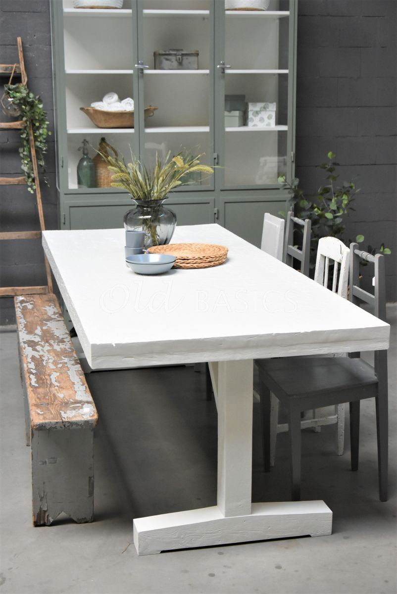 Eettafel Toulouse, wit, materiaal hout