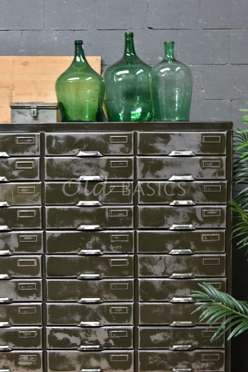 Detail van Industriële kast, metaal, materiaal staal
