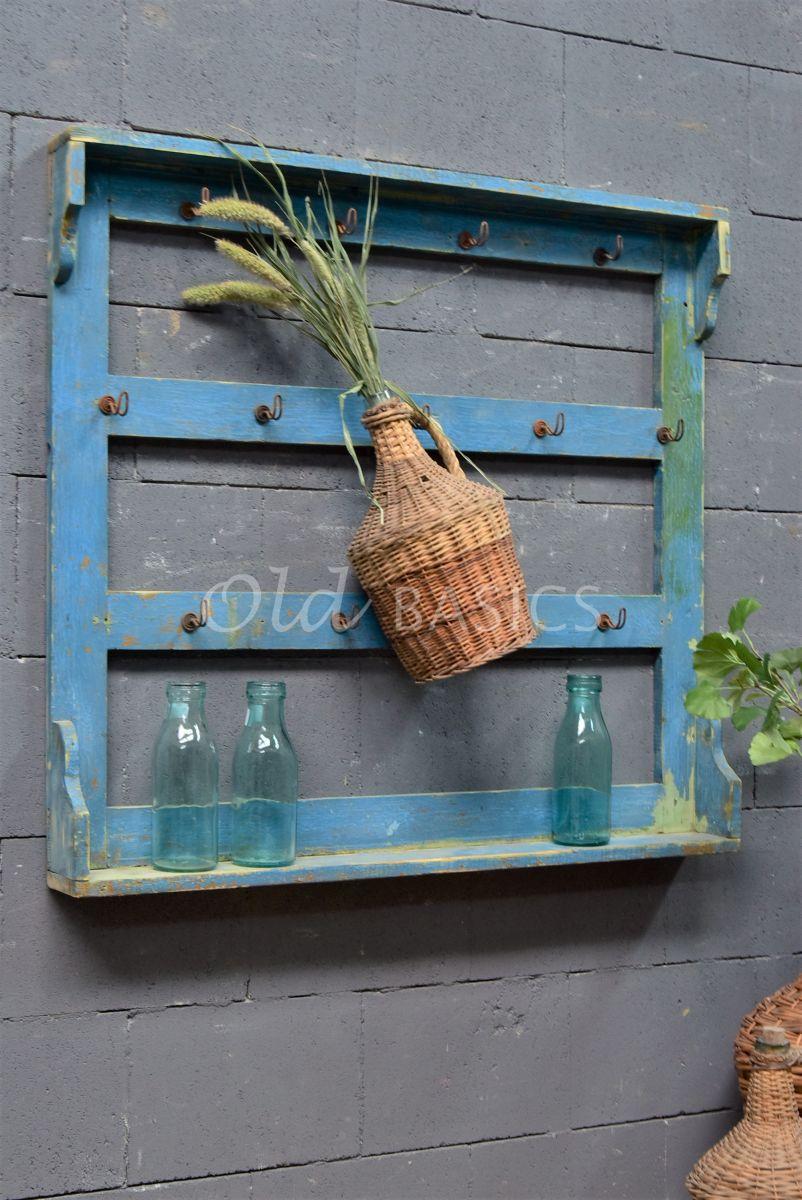 Wandrek, blauw, materiaal hout