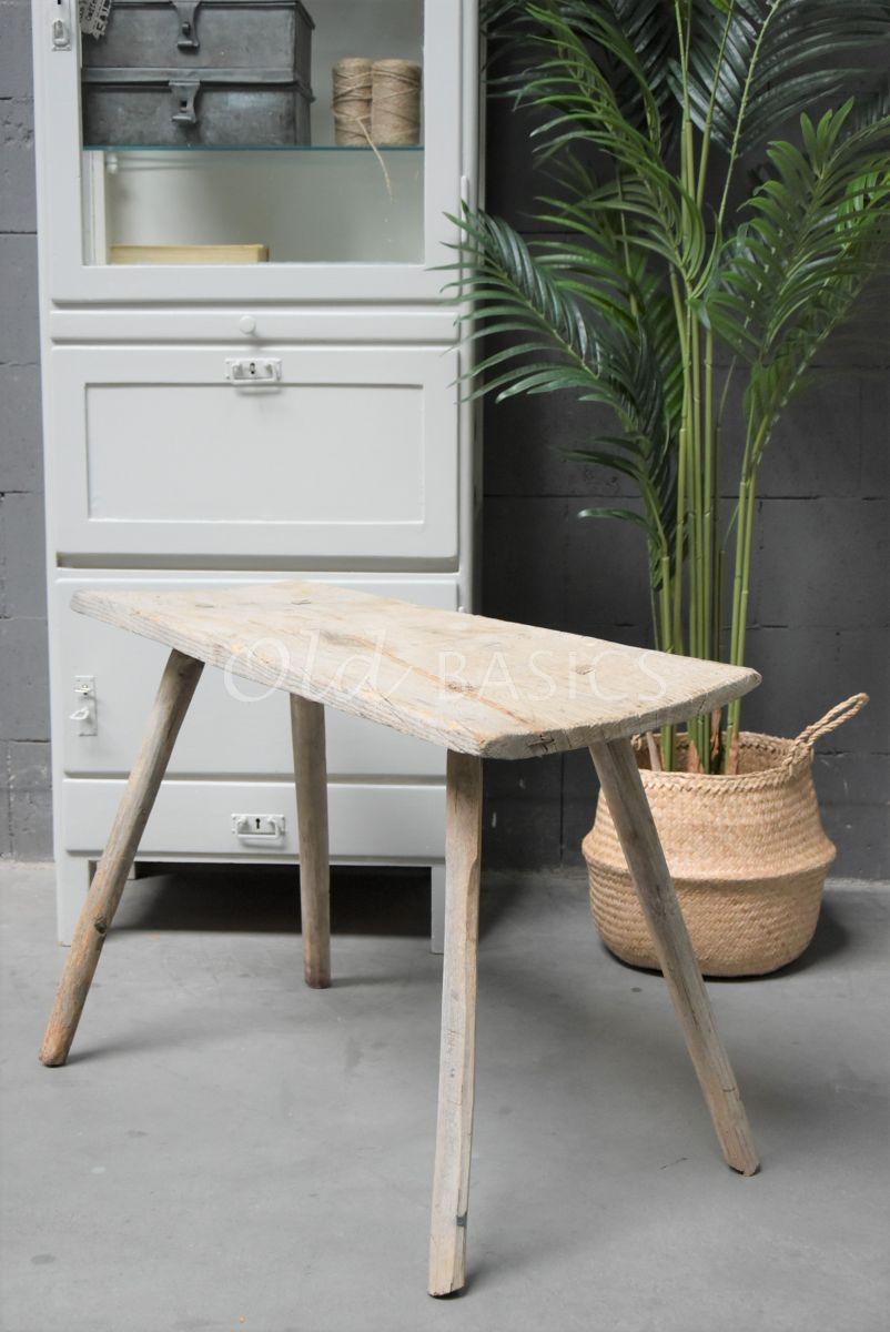 Houten bankje, naturel, materiaal hout