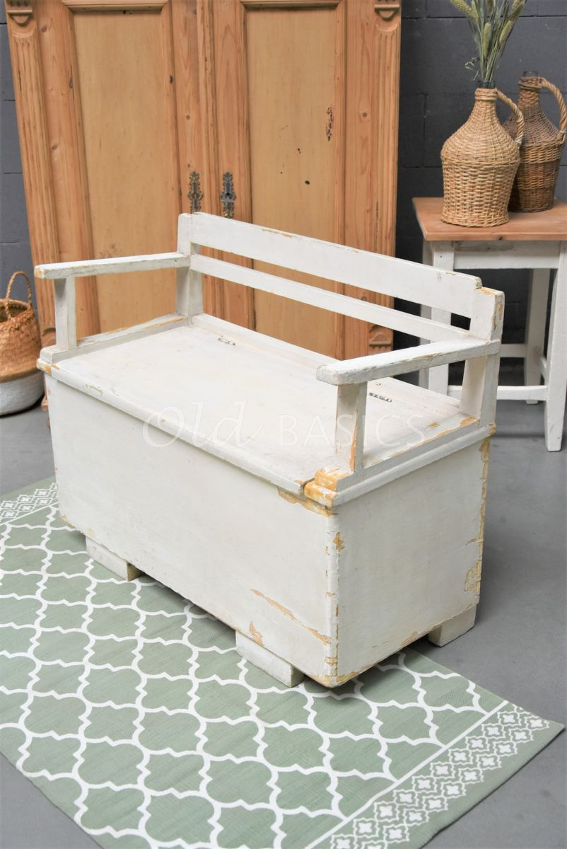 Klepbank, wit, materiaal hout