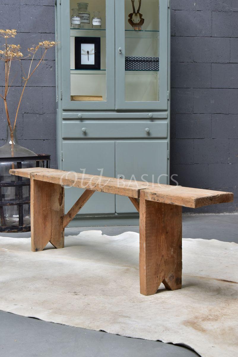 Houten bank, naturel, materiaal hout