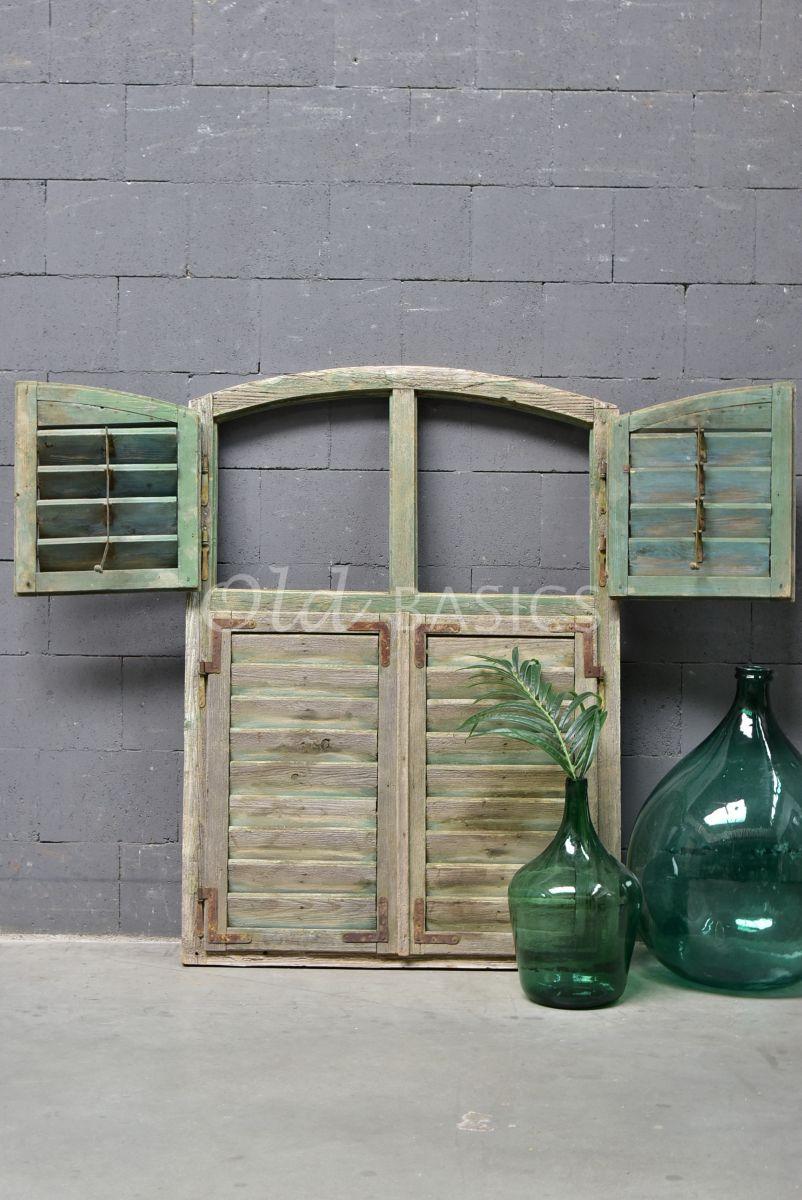 Luik, groen, naturel, materiaal hout