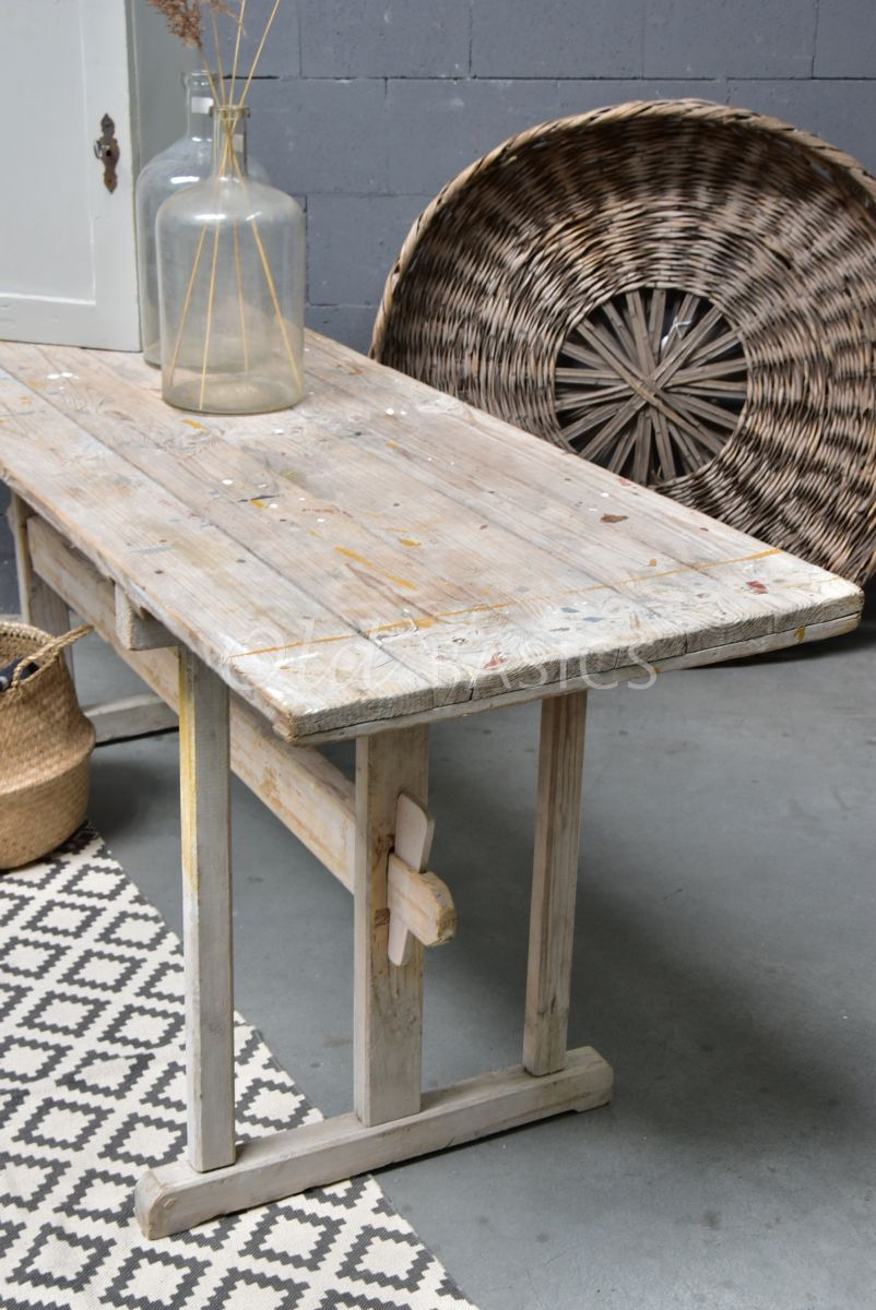 Detail van Sidetable, naturel, materiaal hout