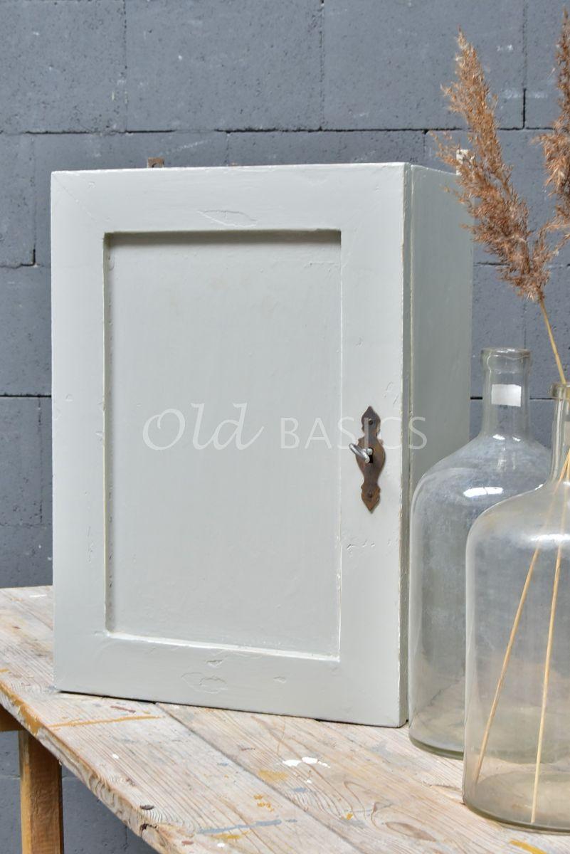 Wandkast, grijs, materiaal hout
