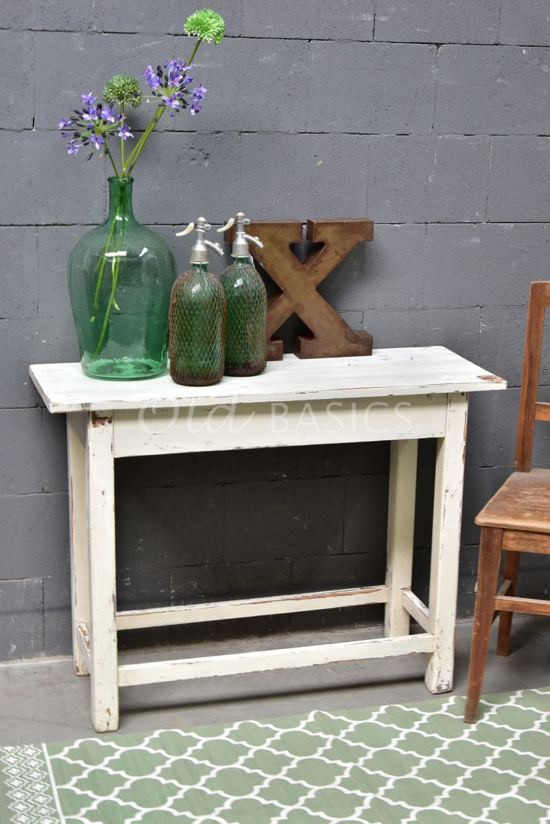Sidetable, crème, wit, materiaal hout