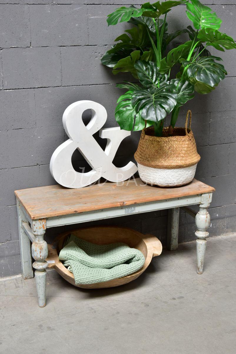 Houten bank, grijs, naturel, materiaal hout