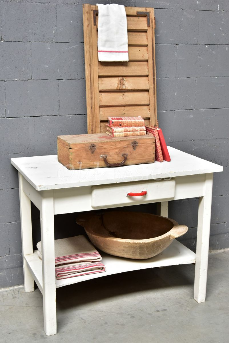 Sidetable, wit, materiaal hout