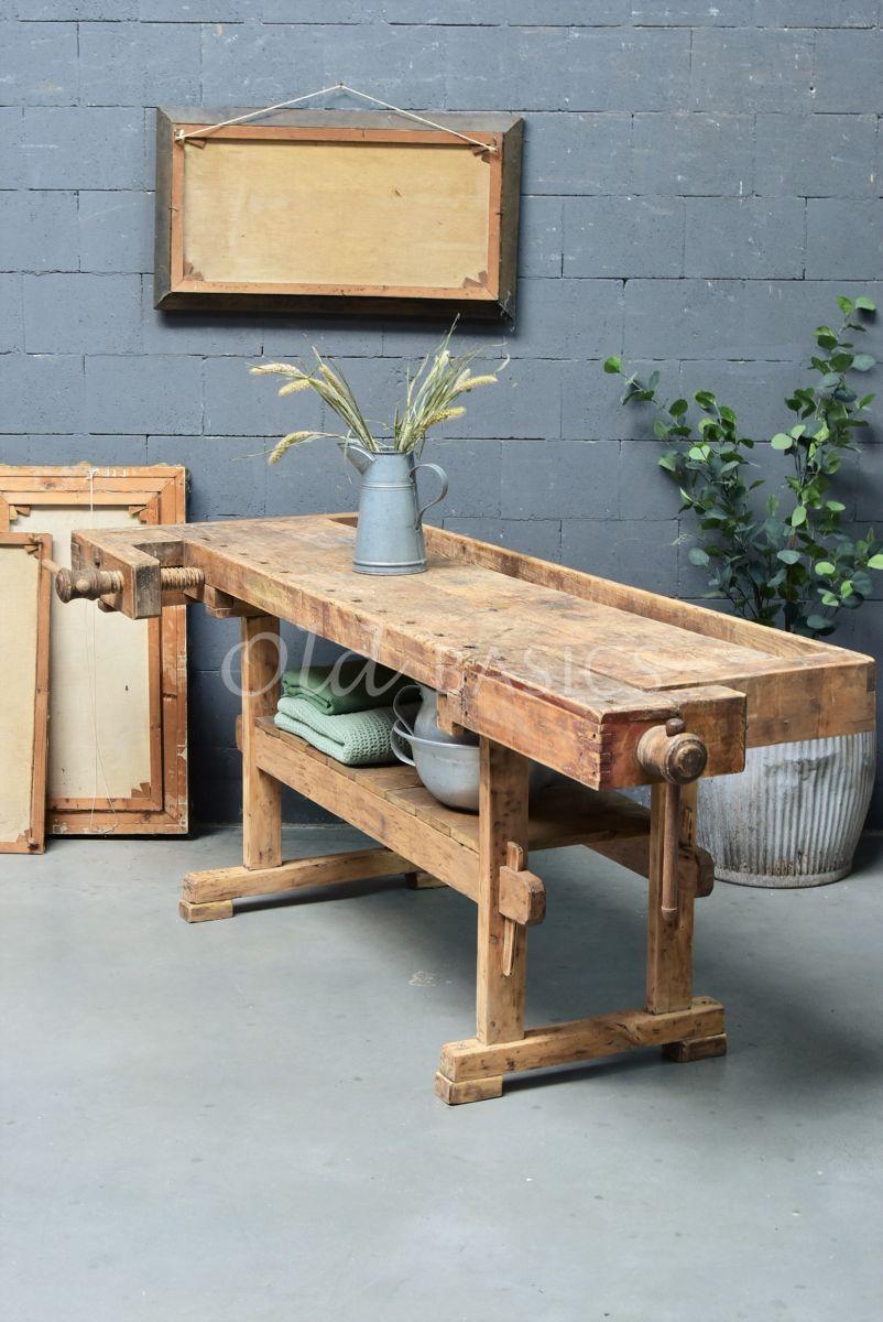 Werkbank, naturel, materiaal hout