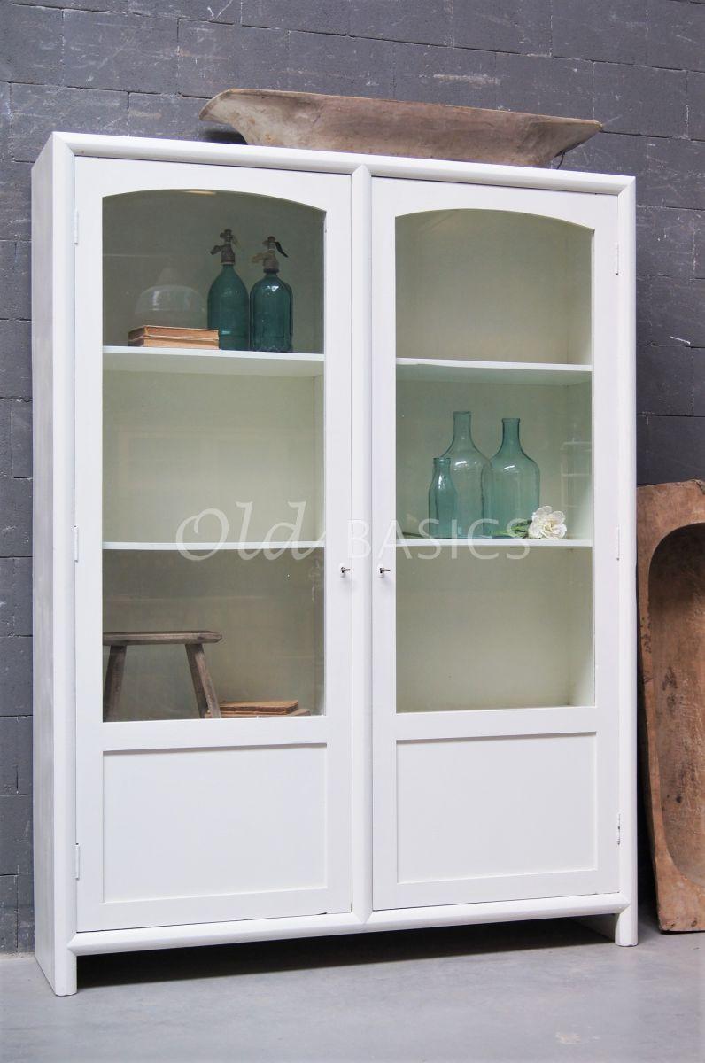 Vitrinekast Isa Wit, wit, materiaal hout