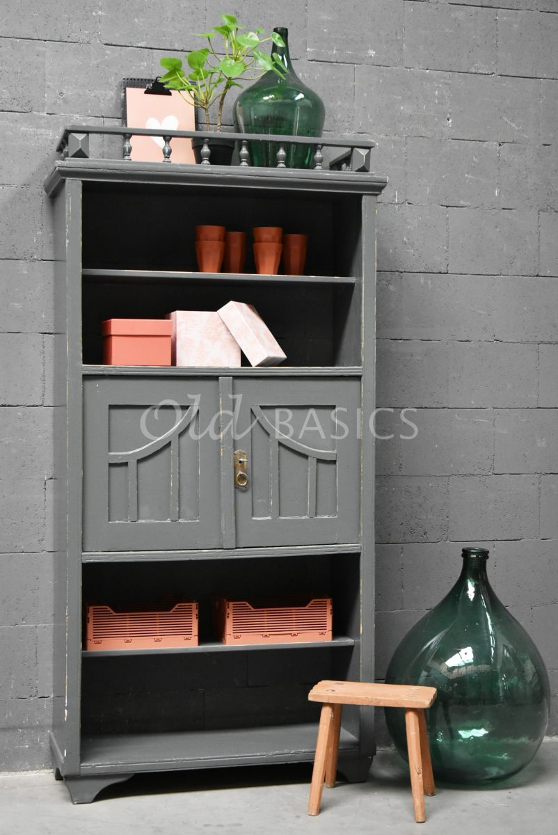 Boekenrek, grijs, materiaal hout