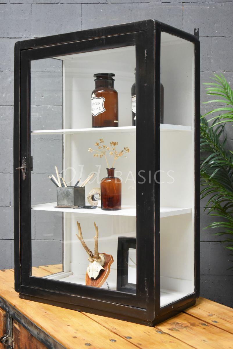 Wandkast, zwart, materiaal hout