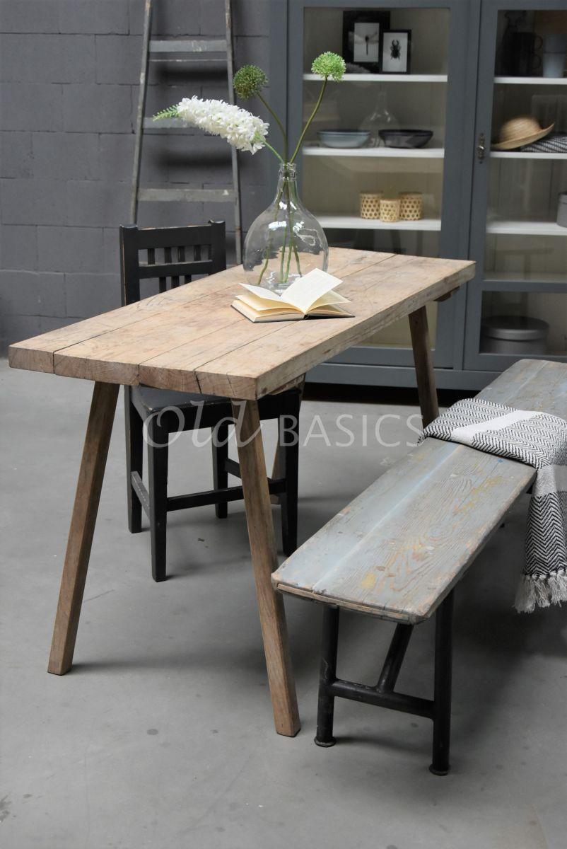 Slagerstafel, naturel, materiaal hout