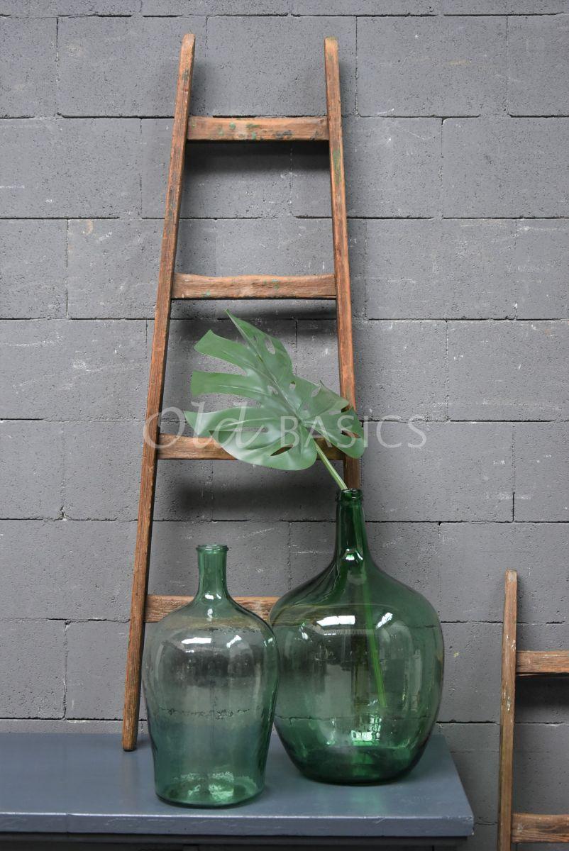 Detail van Houten ladder, naturel, materiaal hout