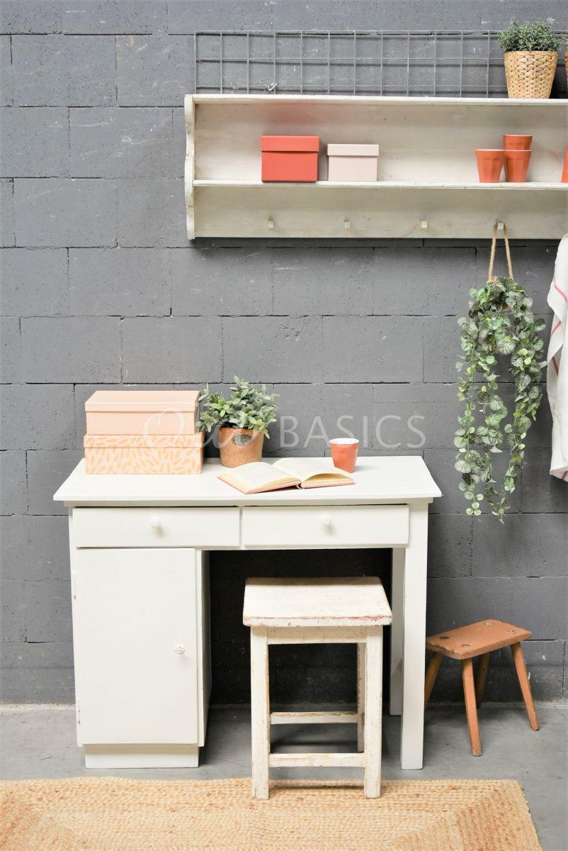 Bureau, wit, materiaal hout