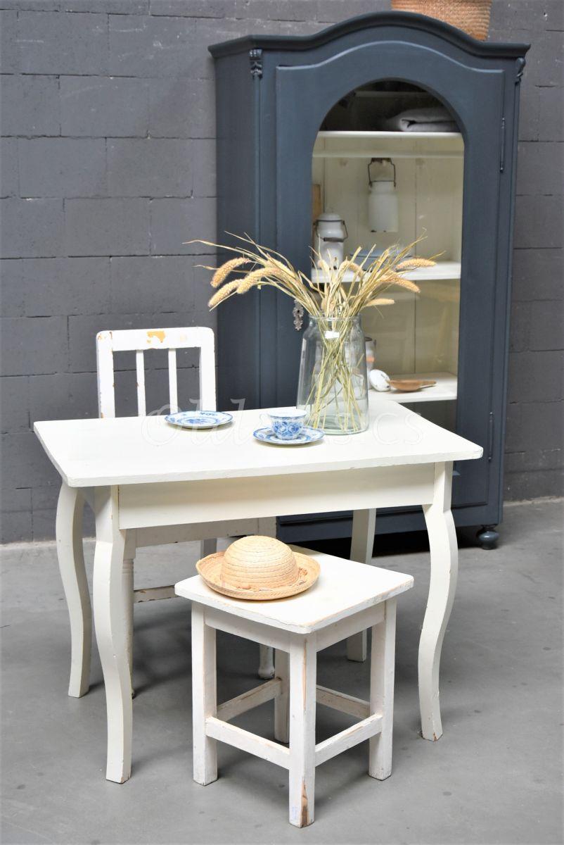 Keukentafel, wit, materiaal hout