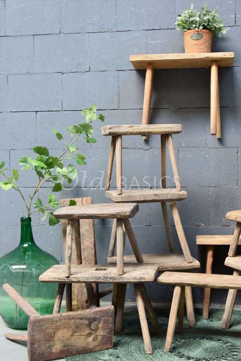 Melkkrukje, naturel, materiaal hout